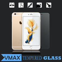 Japan Asahi Glass high quality 0.33mm+2.5D 9H ultra clear anti-shock cell phone tempered glass screen protector for iPhone6/6s