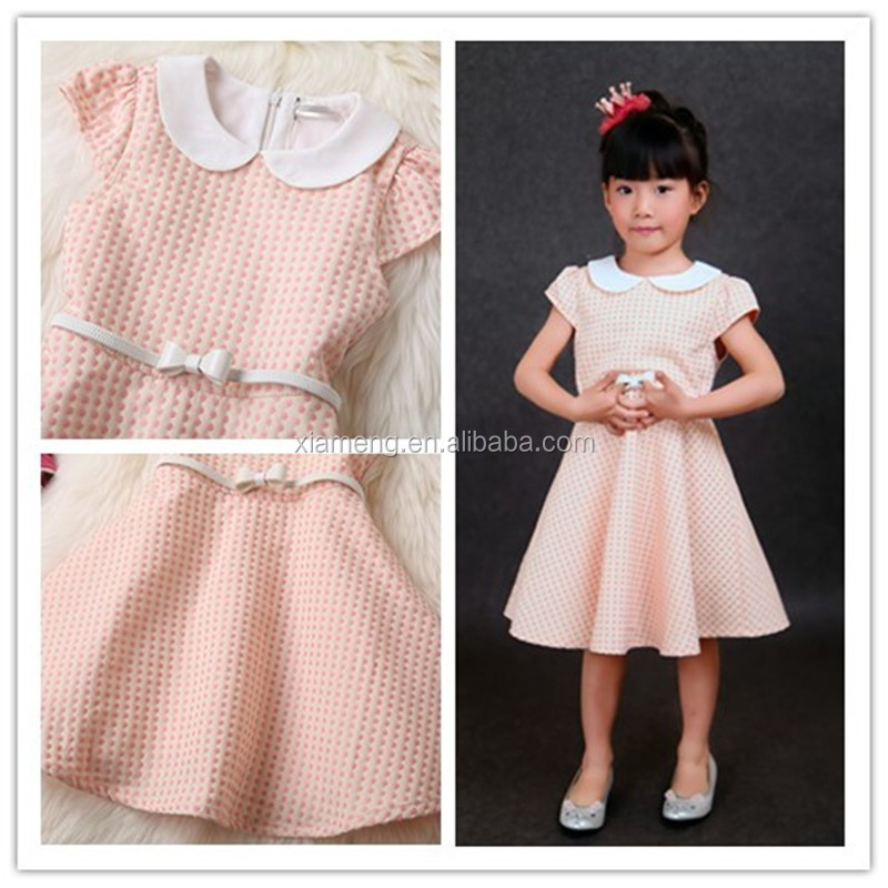 new design baby cotton frocks designs 100 % cotton dresses baby girls short sleeves casual dresses