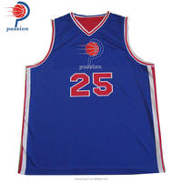 Custom Sublimated Navy Blue White Reversible Basketball Jerseys For Basketball Leagues