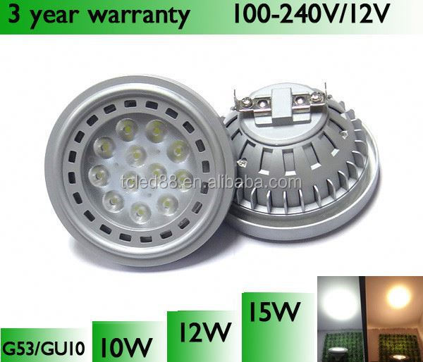 High Lumen SMD2835 Cob Ar111 Led Down Lamp Qr111 Led Gu5.3/gu10 Base