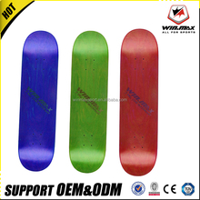 New design 7 ply blank skate board 100% canadian maple wood skateboard with heat transfer deck