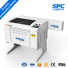 China Gweike 3 years warranty machine small 6040 co2 laser cutter