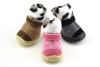 Wholesale Winter keep warm Faux suede Casual Pet snow boots Free shipping