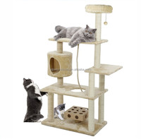China Supply High Quality Pet Climbing Products Large Luxury Wood Cat Tree