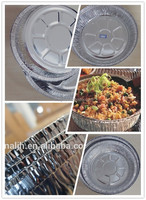 7 inches round takeout aluminium foil pan /Medium Round Pie Foil Container with dome plastic lid