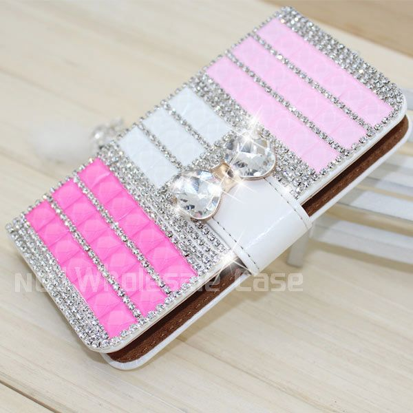 crystal wallet leather for Sony Xperia T3 bling cell phone covers for Sony Xperia T3