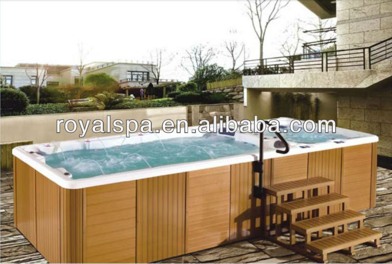 luxurious acrylic salt water swim spa