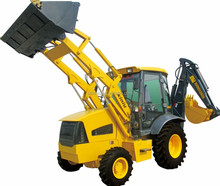 crawler loader with backhoe attachment backhoe