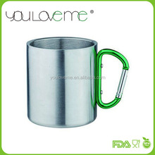 wholesales eco friendly double wall stainless steel custom coffee mug