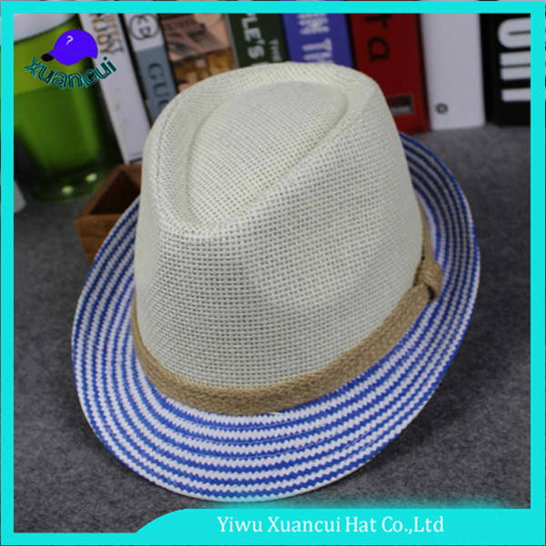 China gold manufacturer economic stylish jazzy hat cheap fedora hats for men