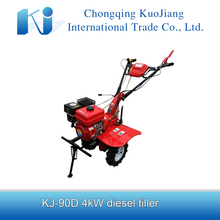Mini diesel power tiller KJ-90D with power tiller gearbox