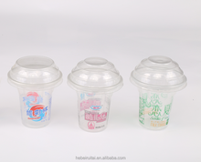 PET 5oz/150ml ice cream cup matching Juice plastic cup lids/Disposable Food Container