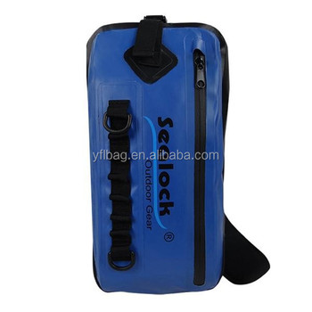 Blue leisure shoulder backpack waterproof