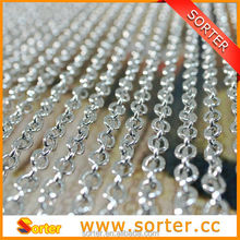 decorative aluminum chain links for curtain room divider