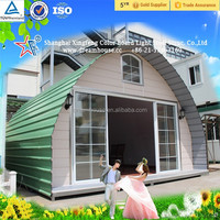Good Quality Steel Structure Prefab Dome Homes/new style cheap arched cabin/prefabricated tiny kit houses for sale