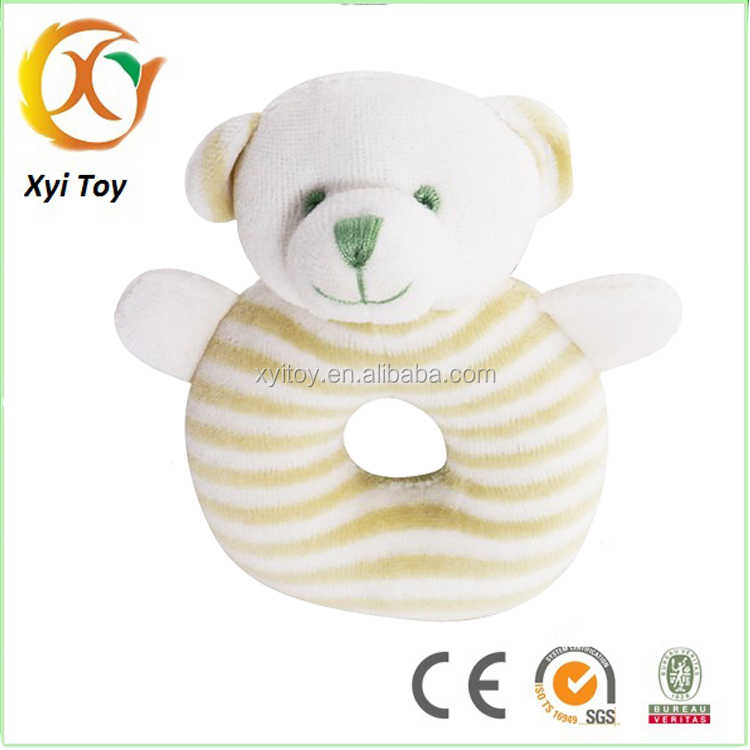 Plush baby comforter toy with rattles