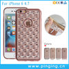 New Arrival Electroplated TPU Diamond Star Mobile Phone Case For iPhone 6S High End Case