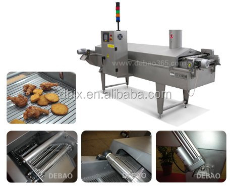 KFC McDonald chicken deep frying machine/continuous fryer/industrical frying machine