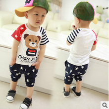 Korean Cartoon Printed T-shirts suits Cotton Classy Baby Clothing Sets