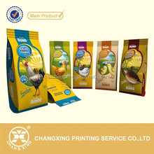 plastic side gusset poultry feed food packaging bag