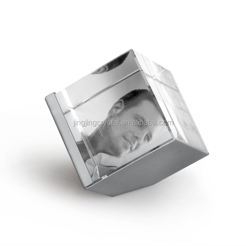 Hot Sales Unique Design Popular Cube Crystal Photo Frame