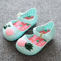 2017 Latest style Summer Baby Girls Pineapple Shoes Cheap Soft Kids Pvc Sandals