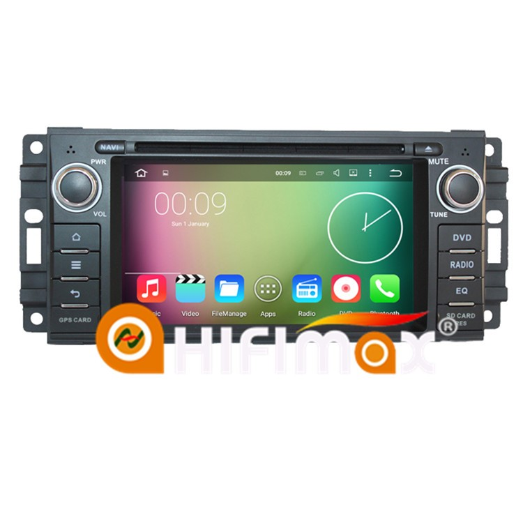 Hifimax Car DVD Radio For Jeep Grand Cherokee/Jeep Wrangler jk Touch Screen Car Stereo For Sebring Chrysler Andriod 7.1 GPS