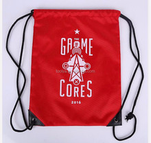 Custom promotional Printed Gym drawstring Sport Backpack