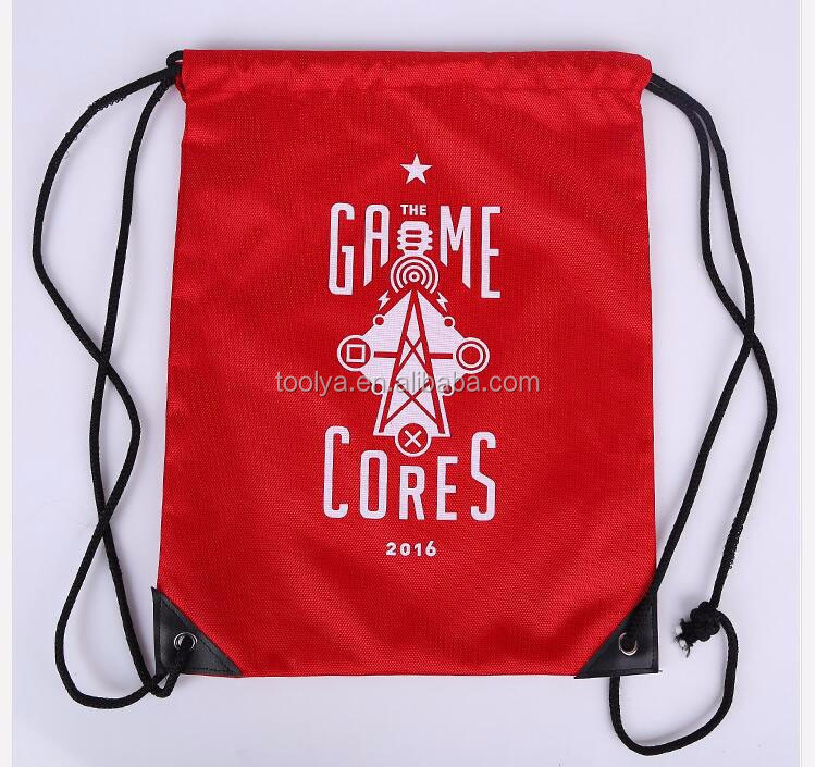 Customized promotional Cheap Printed Gym drawstring Sports Backpack