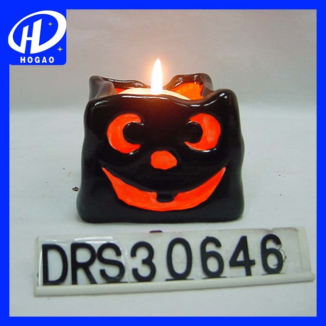 2017 Black Ghost Tealight Candle Holder As Festival Halloween Home Deco