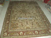 400L turkish knots 100% pure silk qum rugs 6 'X 9' 183CMX274CM gc82pgs321