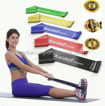 Set of 5, 12-inch Exercise Resistance Loop Bands Best for Stretching, Physical Therapy and Home Fitness -handy carry bag