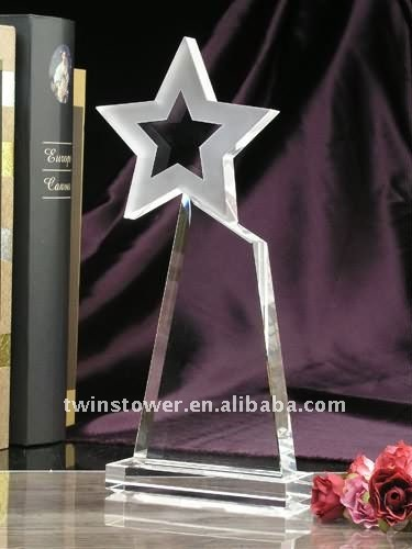 Crystal star trophy&award