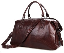 7071 Large Capacity Vintage Men's Genuine Cowhide Leather Travel Duffel Bag