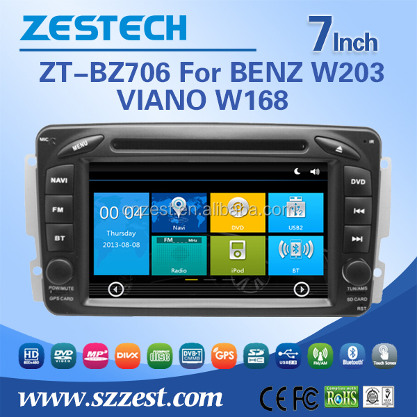 ZESTECH CAR DVD player for Mercedes Benz W203 VIANO W168 Multimedia Headunit Auto radio for benz CLC