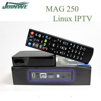 Mag 250 iptv box best media player with English linux os in best iptv box