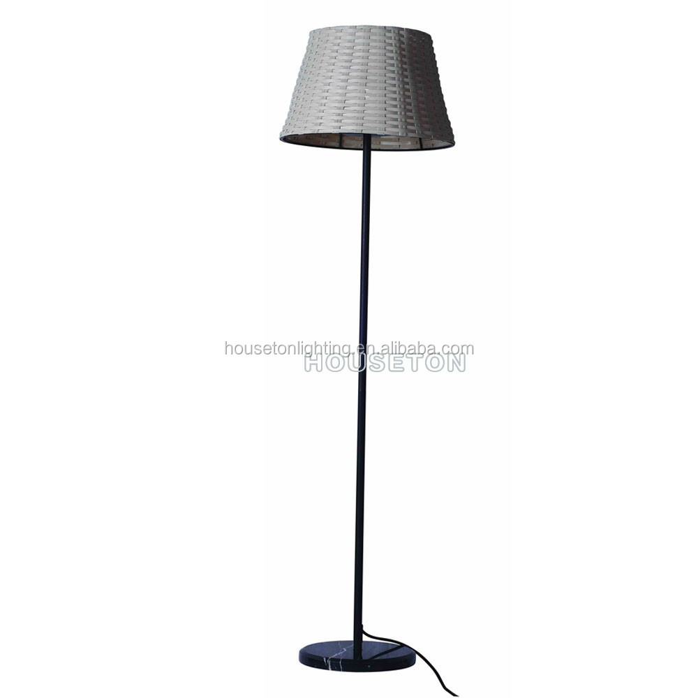 High quality weaved design home decoracion modern floor standing lamp