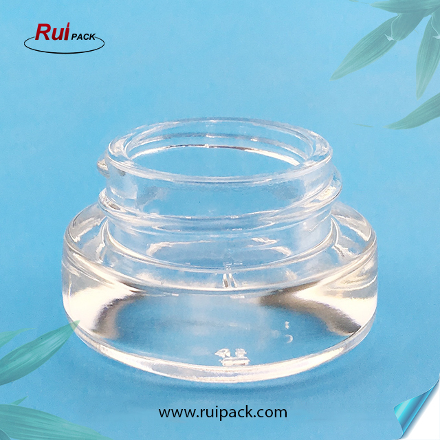 3g Manufacturer Clear Glass Eye Ceam Jar with Black Lid Cosmetic Cream Containers