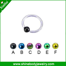 Nose Piercing Jewelry, nose hoops with plated balls