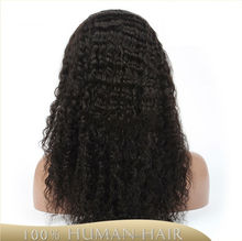 100% lace frontal virgin indian human hair wigs Hand made 14 inch indian remy wig Accept paypal for black woman
