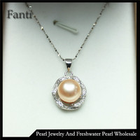 Silver gift items pearl pendants jewelry for women