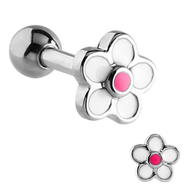 Surgical Steel Daisy Flower Tragus Cartilage Helix Bar