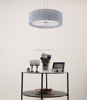 New Indoor Modern Fabric Shade Lighting Hanging Lamp with 2 Shades