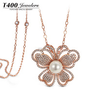 T400 Fashion gold long sweater chain pendant