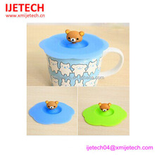 Promotional food grade silicone ids cup cover lid