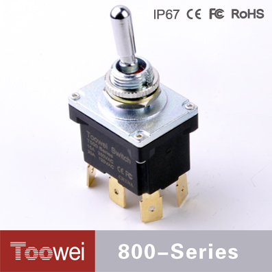 Toowei Factory T500 Series Waterproof 15A/20A DPDT ON-OFF-ON 6P heavy duty toggle switch