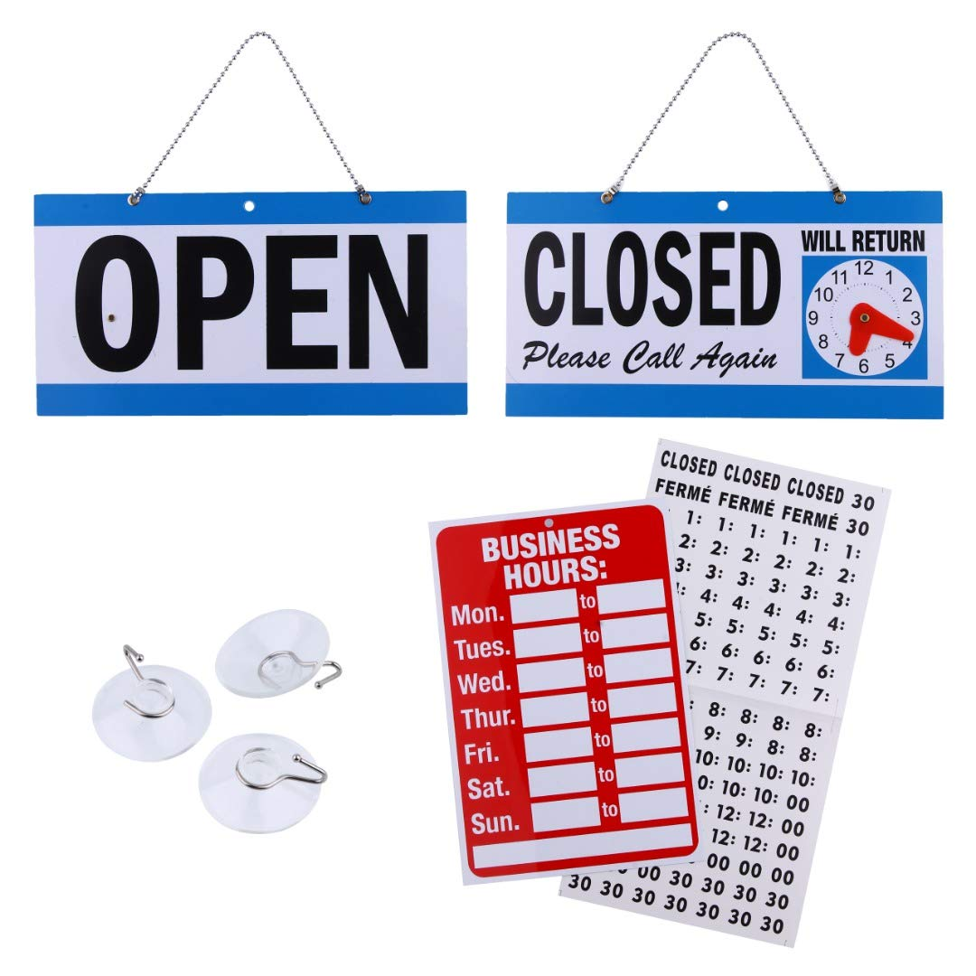 Window <strong>Sign</strong> Open Closed <strong>Sign</strong> Will Return Clock Bundle of led open <strong>Sign</strong> with Reversible Open/Closed for Door Window Businesses