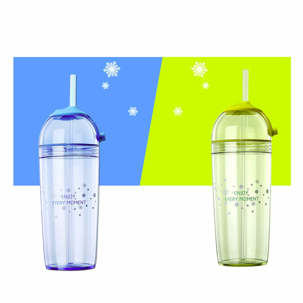 High quality transparent plastic drinking water bottle with cover