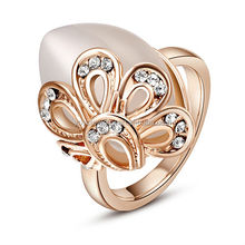 Newest Sophisticated Design Ring Golden Yellow 18k Rose Gold Plated Jewelry Ring