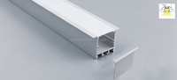 Deep recess line strong anodized aluminum channel profile for led strip